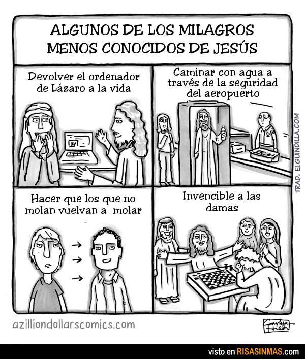 Los milagros menos conocidos de Jesús