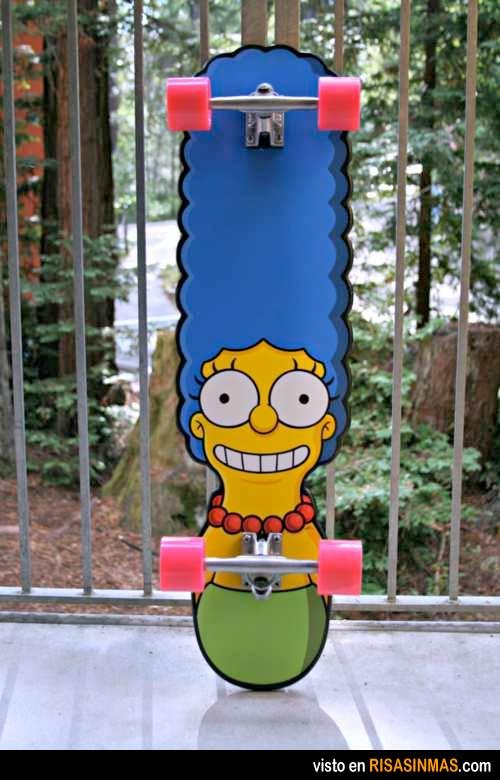 El monopatín de Marge Simpson