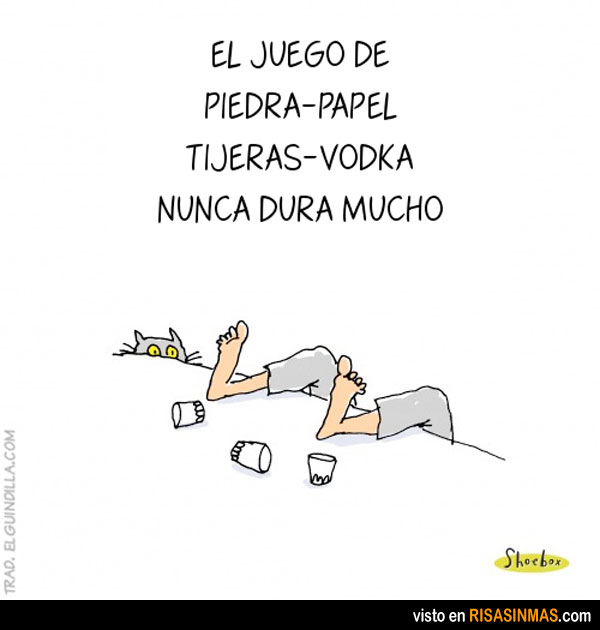 Piedra, papel, tijeras, vodka