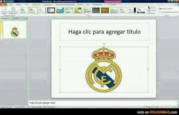 El powerpoint del Real Madrid