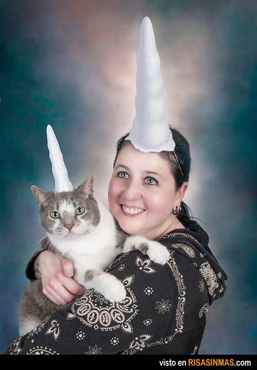 Retrato de dos unicornios