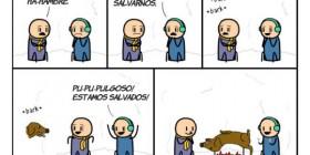 Salvados por su perro