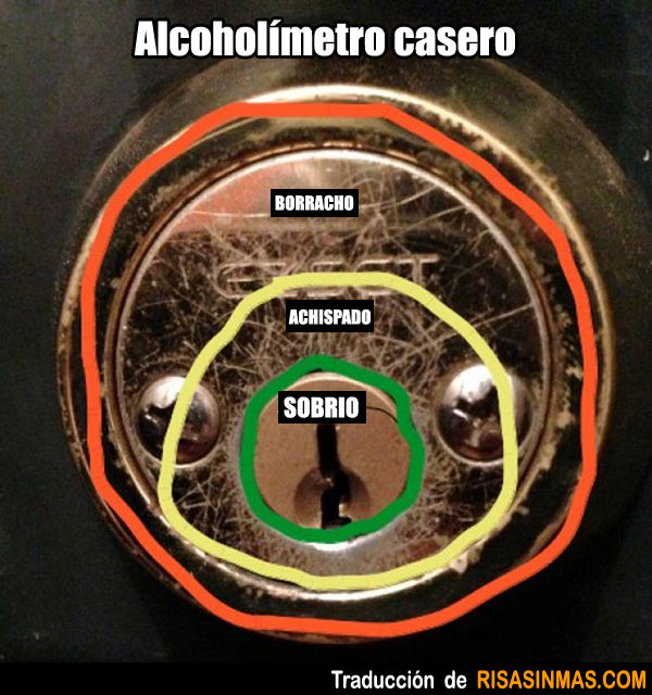 Alcoholímetro casero