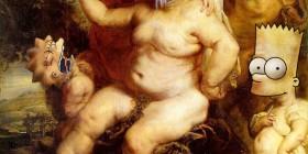 Baco de Peter Paul Rubens versión Los Simpson