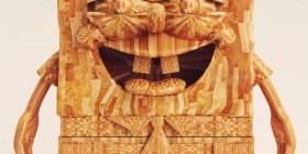 Bob Esponja de madera