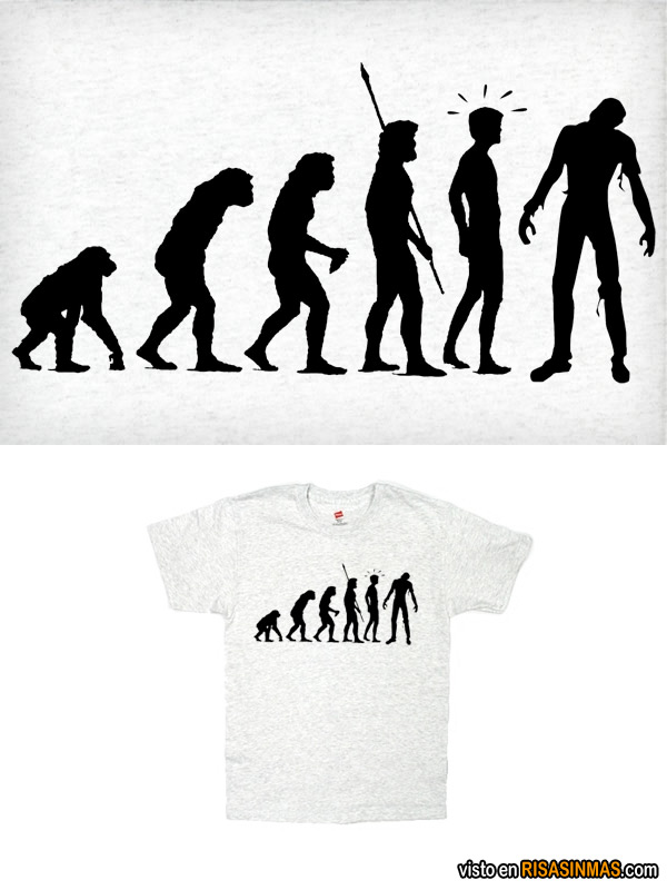Camisetas divertidas: Evolución Zombie
