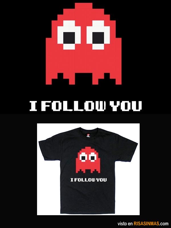 Camisetas originales: Te sigo