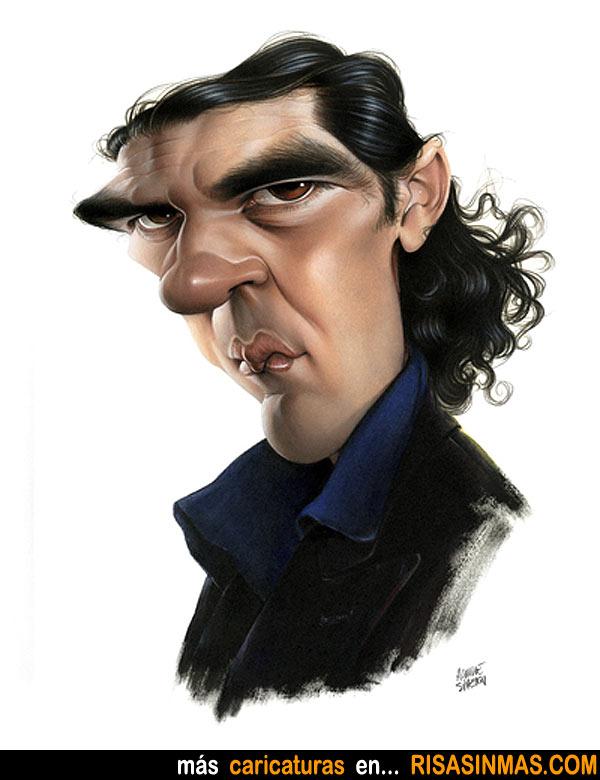 Caricatura de Antonio Banderas