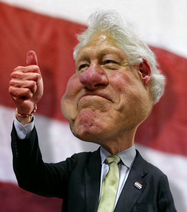 Caricatura de Bill Clinton