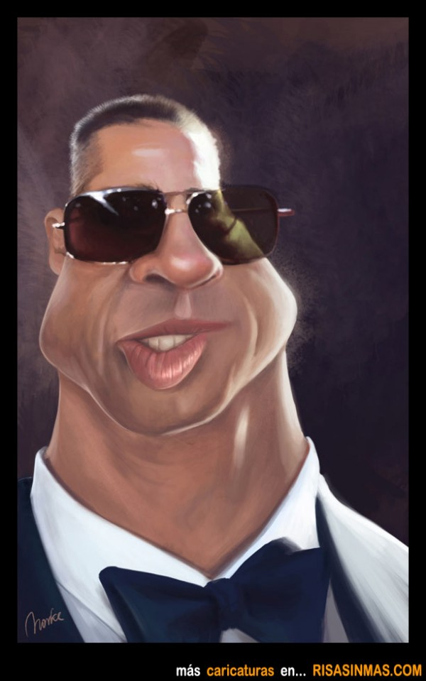 Caricatura de Brad Pitt