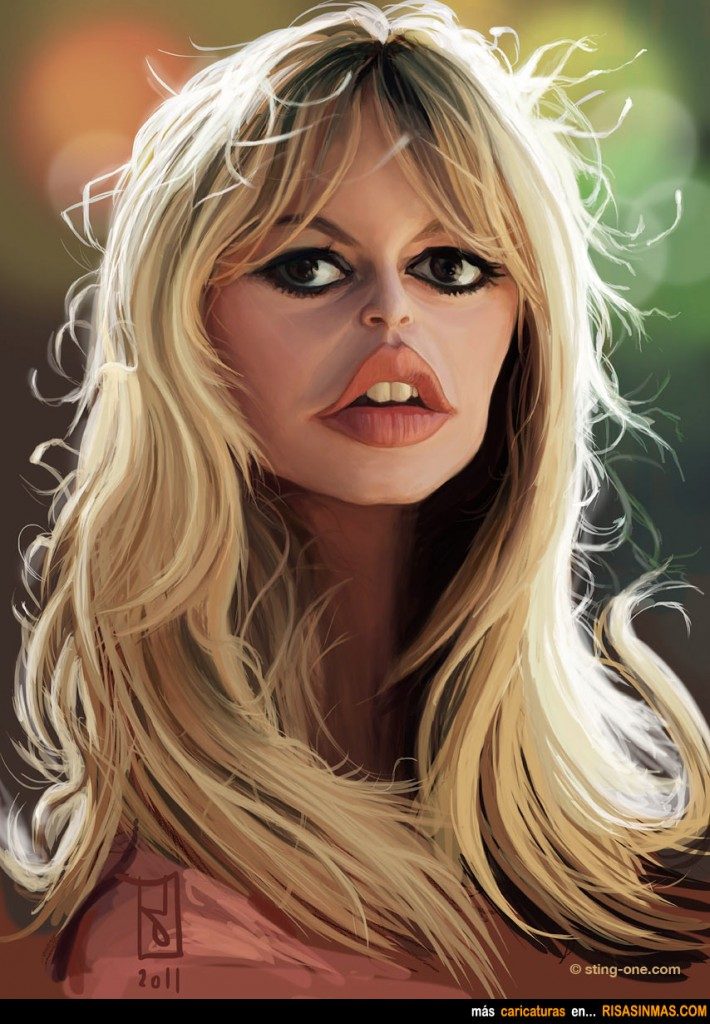 Caricatura de Brigitte...