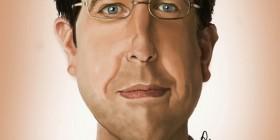 Caricatura de Ed Helms