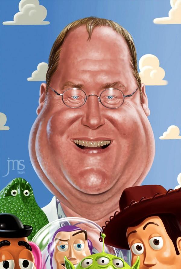 Caricatura de John Lasseter