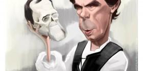 Caricatura de José María Aznar
