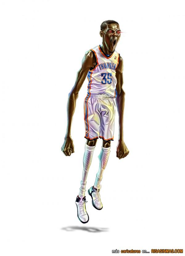 Caricatura de Kevin Durant