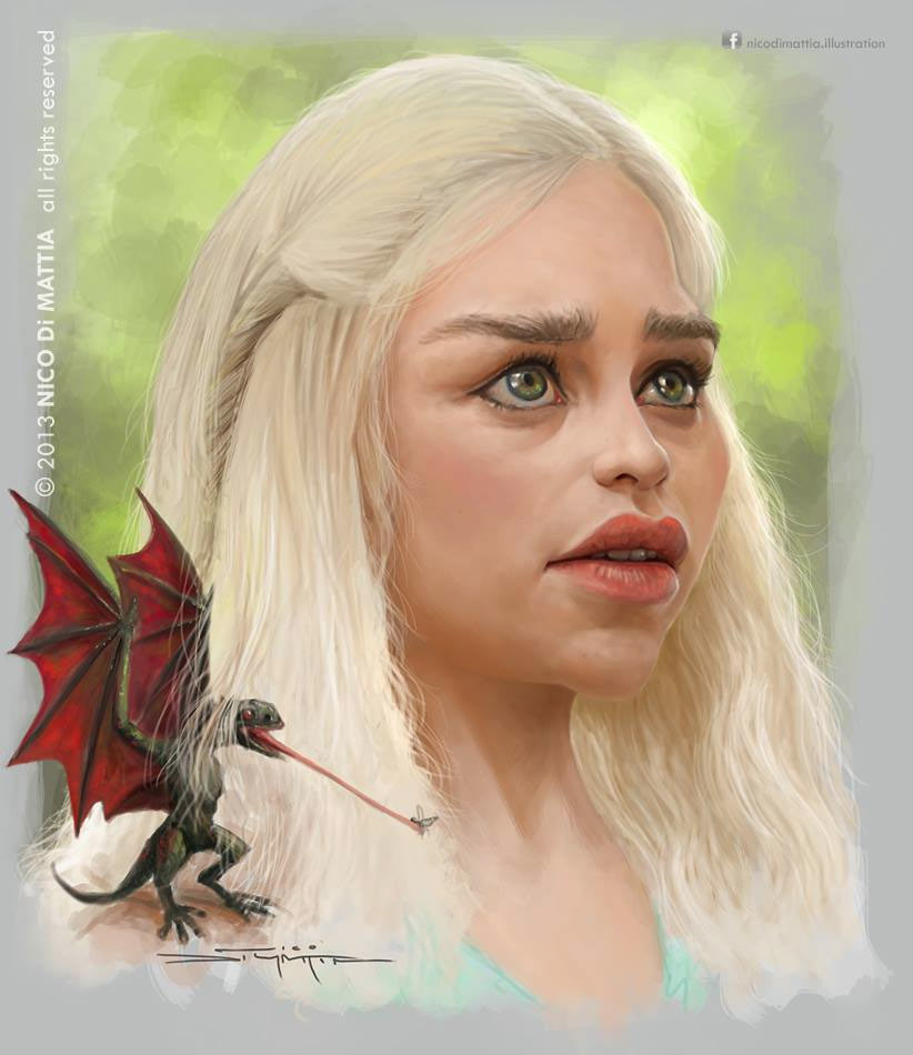 Caricatura de Khaleesi