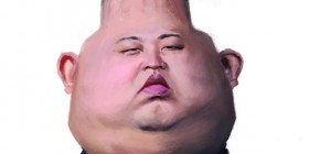 Caricatura de Kim Jong-un