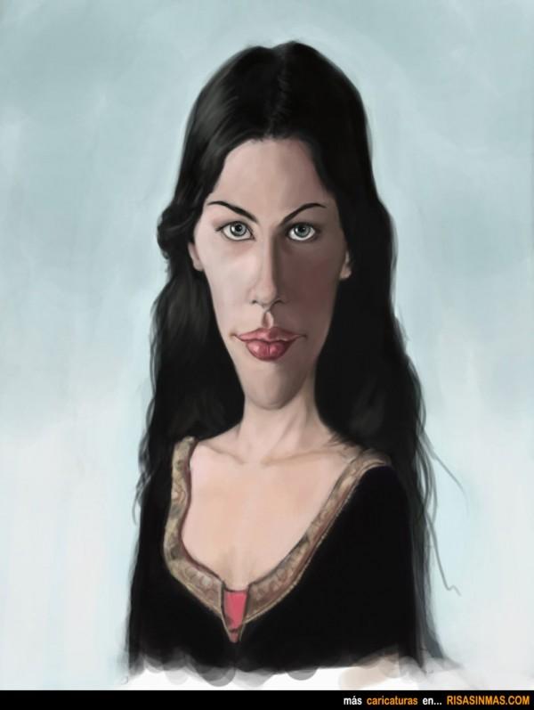 Caricatura de Liv Tyler