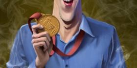 Caricatura de Michael Phelps