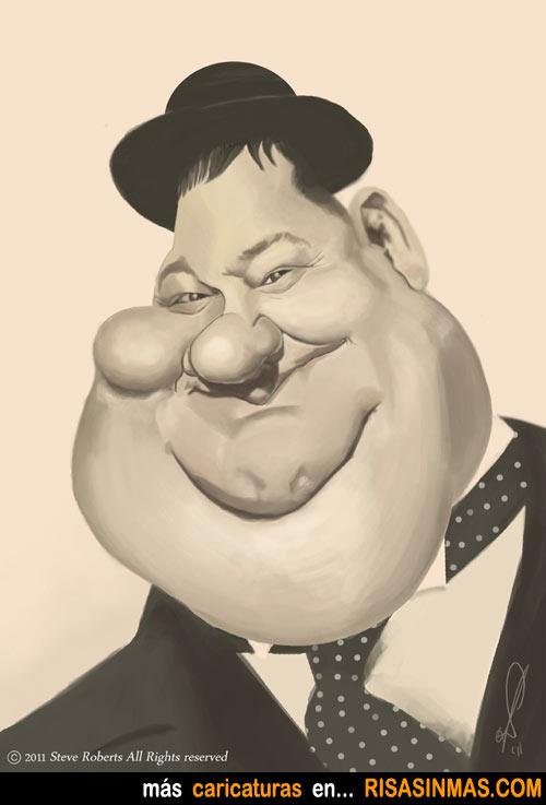 Caricatura de Oliver Hardy (El Gordo y el Flaco)