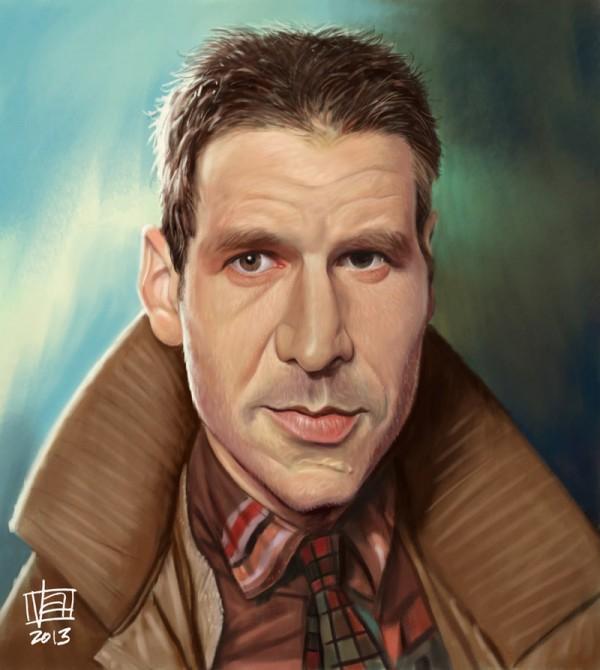 Caricatura de Rick Deckard (Blade Runner)