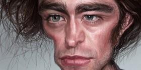 Caricatura de Robert Pattinson