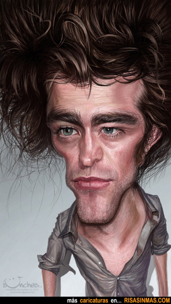 Caricatura de Robert Pattinson