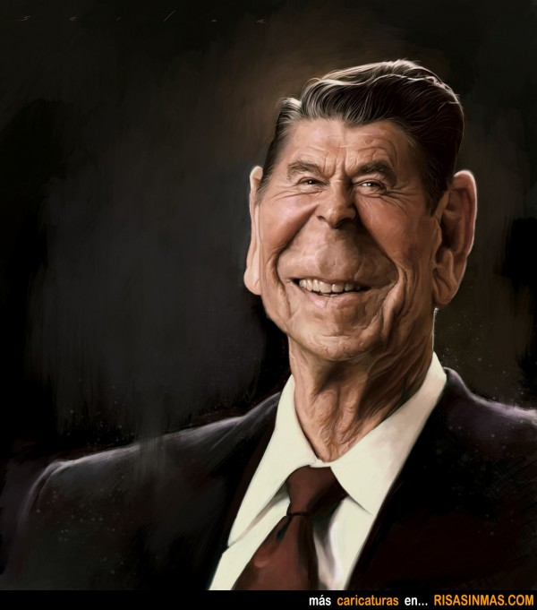 Caricatura de Ronald Regan