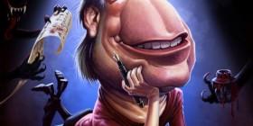 Caricatura de Stephen King