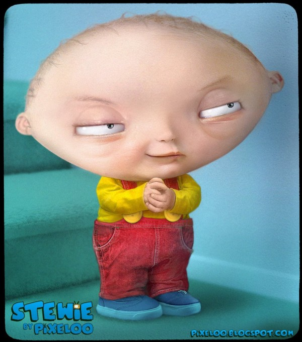 Caricatura de Stewie Griffin