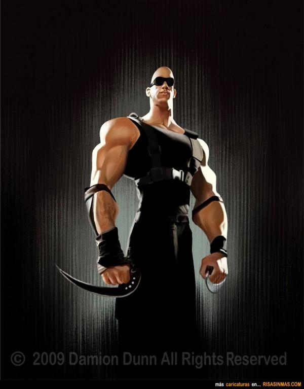 Caricatura de Vin Diesel en Riddick