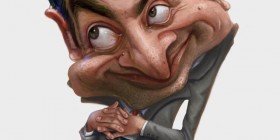 Caricatura de Mr. Bean