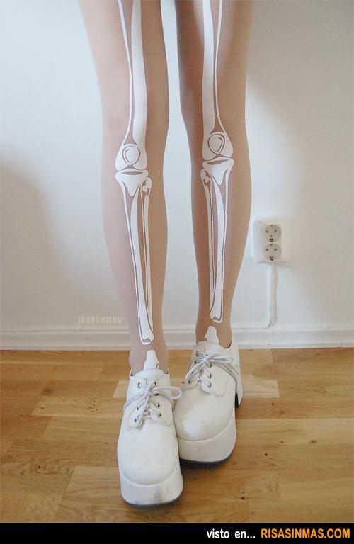 Cosas de la moda, medias esqueleto