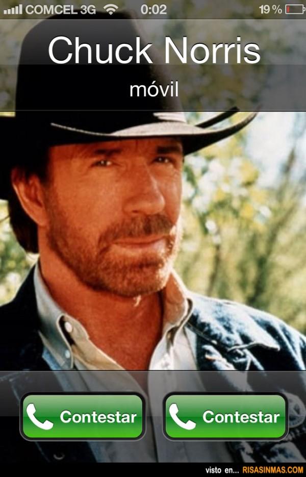 Cuando te llama Chuck Norris