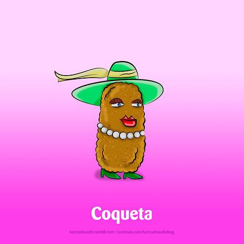 Definición gráfica de Coqueta