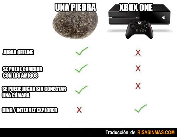 Diferencias entre una piedra y la XBOX ONE