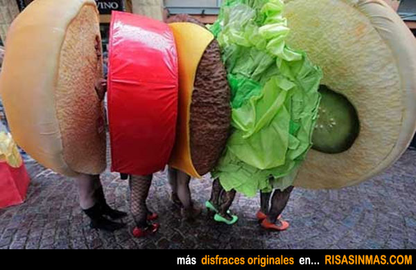 Disfraces originales: Hamburguesa