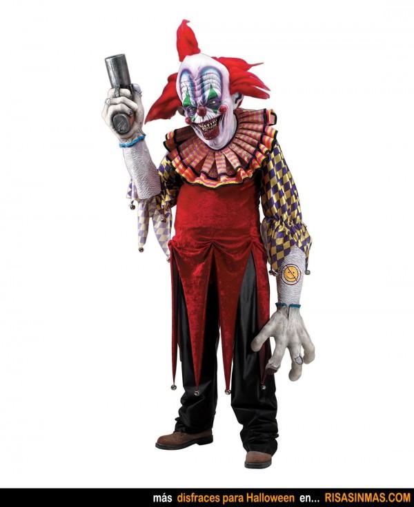 Disfraces para Halloween: Payaso asesino