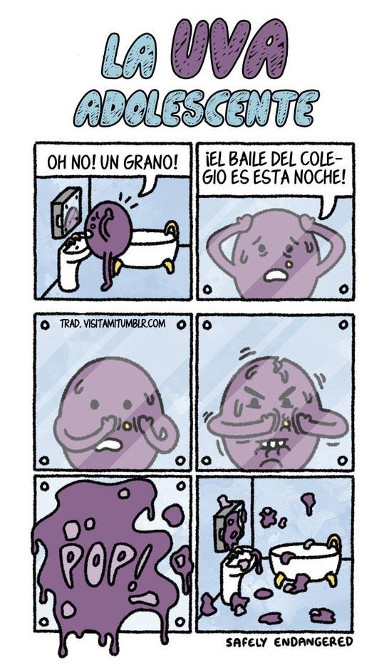 El grano de uva adolescente