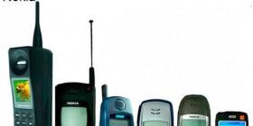 El paso de los años en los teléfonos