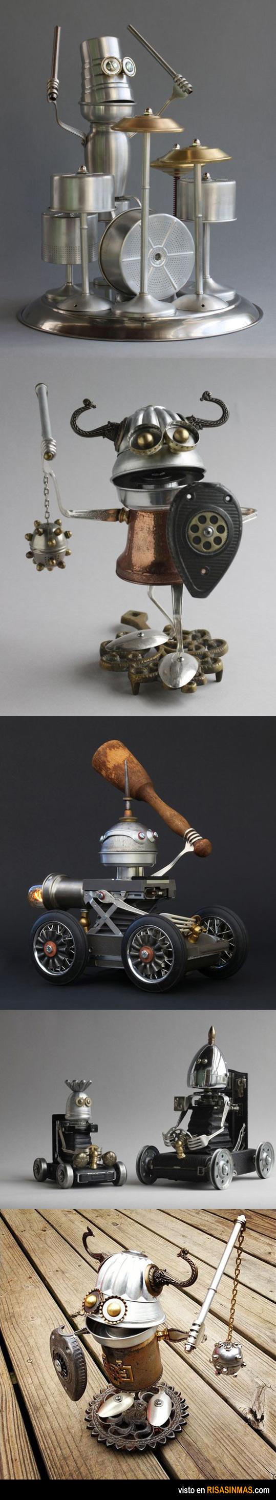 Esculturas hechas de reciclaje