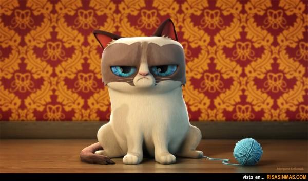 Grumpy Cat en 3D