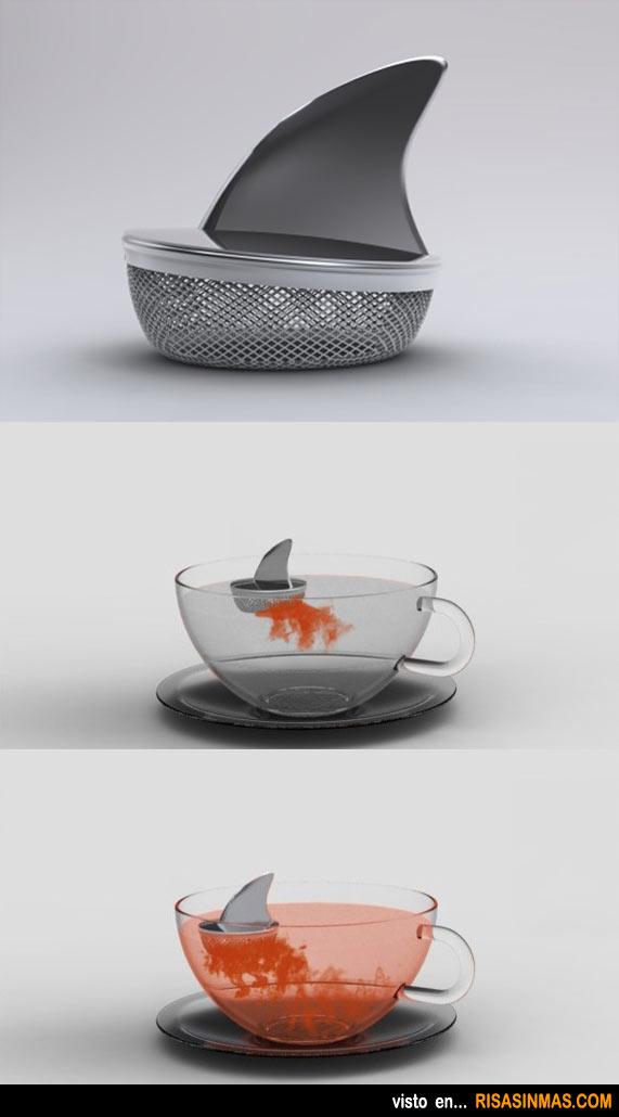 Infusionador de té aleta de tiburón
