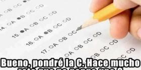 La lógica de los exámenes tipo test