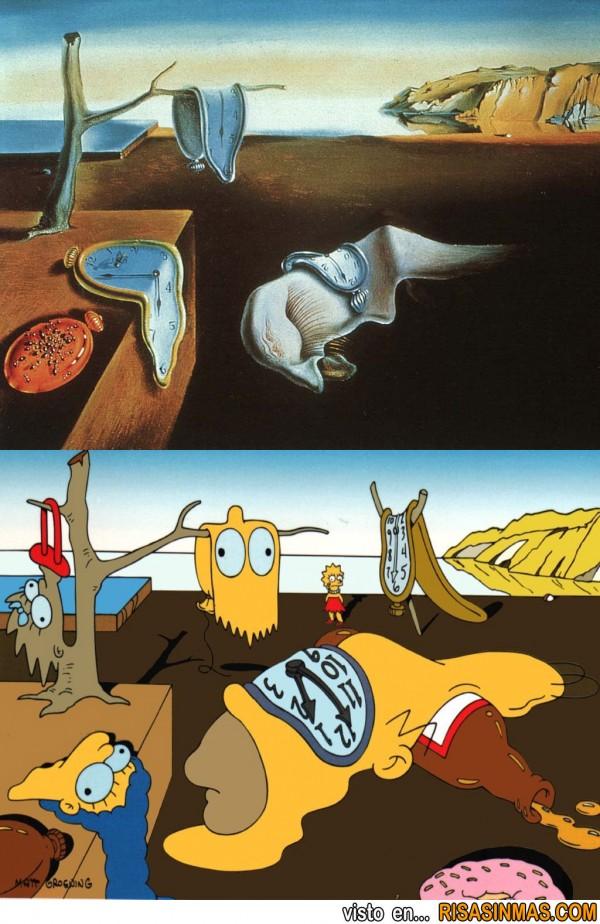La persistencia de la memoria de Dalí a los Simpson