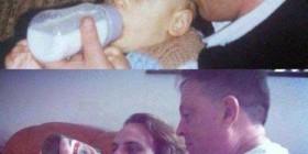 Los padres con los hijos con el paso de los años