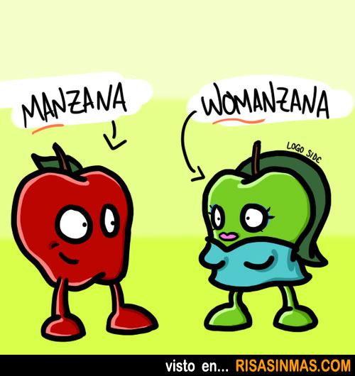 Manzana y su mujer Womanzana