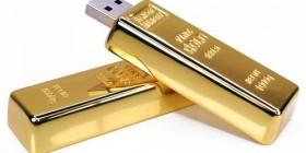 Memoria USB Lingote de oro
