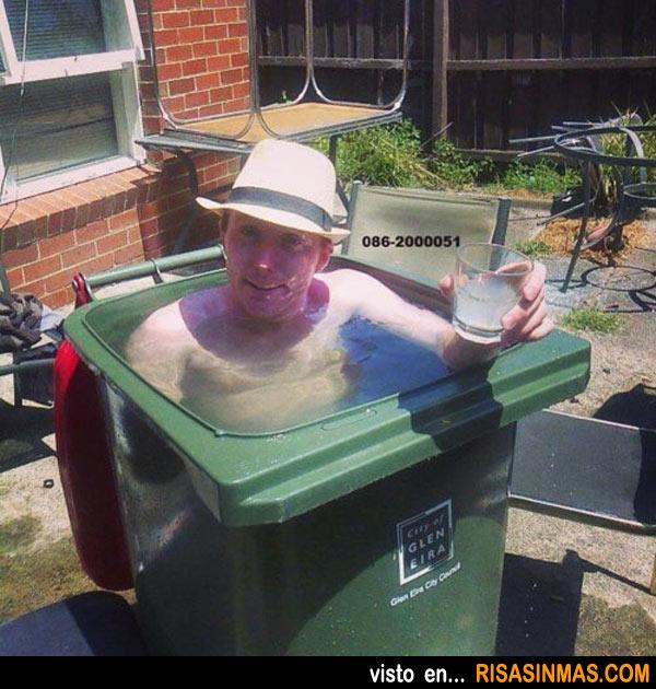 Mini piscina improvisada