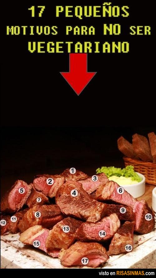 Motivos para no ser vegetariano